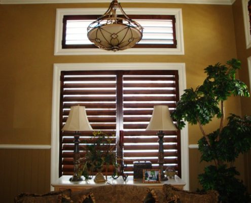 before installing custom shutters